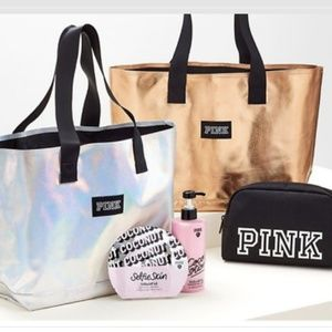 PINK Victoria's Secret Tote Beauty Bag Lotion Mask